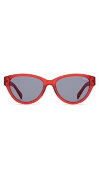 Quay 'Rizzo' Red/Smoke Lens Sunglasses