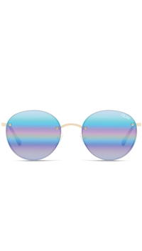 "Quay Gold/Purple Rainbow Mirror ""Farrah"" Sunglasses"