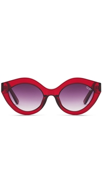 "Quay Red/Purple Fade Lens ""Goodnight Kiss' Sunglasses"