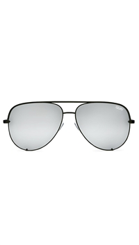 Quay 'High Key' Black/ Silver Mirror Lens Sunglasses