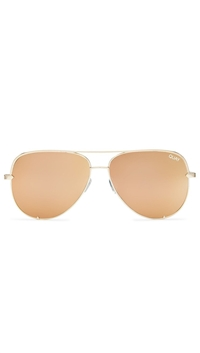 Quay 'High Key' Sunglasses Gold/Gold Mirror