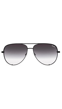 Quay 'High Key' Black/Smoke Fade Lens Sunglasses