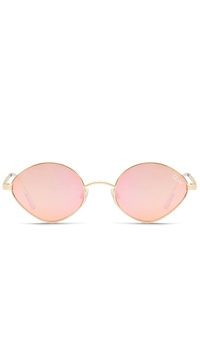 "Quay Gold/Peach Pink Mirror Lens ""Wild Night"" Sunglasses"