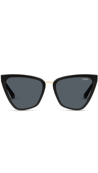 "Quay Black/Smoke Fade Lens ""Reina"" Sunglasses"
