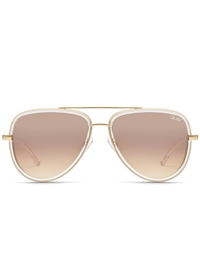 "Quay Clear/Brown Flash ""All In"" Sunglasses"
