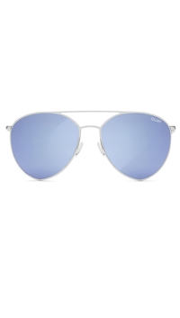 Quay 'Indio' Sunglasses Silver/Blue Mirror