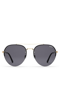 Quay 'Somerset' Sunglasses Gold/Smoke Lens