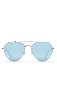 Quay 'Somerset' Sunglasses Gold/Lilac Mirror