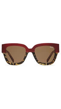 Quay 'Don't Stop' Red/ Brown Lens Sunglasses