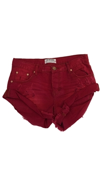 ONE TEASPOON Red Envy Denim Shorts