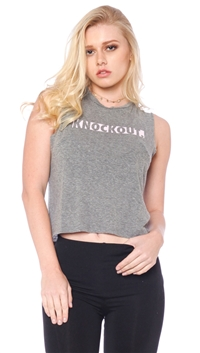 Good hYOUman Heather Gray 'Lili' -Knock Out- Crop Top