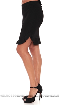 Torn By Ronny Kobo Black Allegra Ruffle Skirt