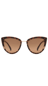 Quay 'My Girl' Brown Tortoise Frame/Brown Lens Sunglasses