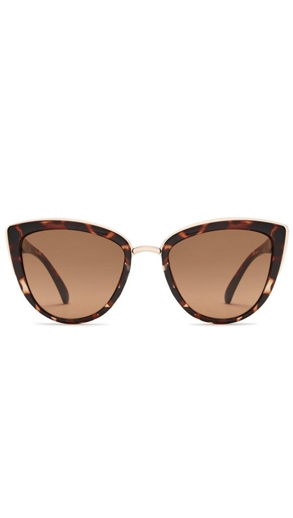 Quay \'My Girl\' Brown Tortoise Frame/Brown Lens Sunglasses