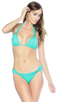 Vix By Paula Hermani Mint Bia Cheeky Bikini Bottom