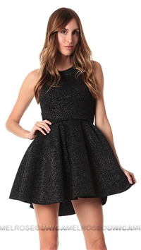 Issue New York Black Glitter Flare Mini Dress