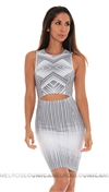 Torn By Ronny Kobo Gray Yonal Maze Dress
