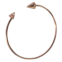 Theia Rose Gold Bangle Bracelet With CZ Spike Accent