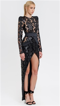 House Of Zhivago Black 'The Forge' Gown