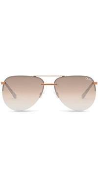 "Quay Bronze/Brown Flash Mirror Lens ""The Playa"" Sunglasses"