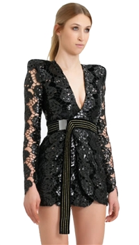 House of Zhivago Black 'Miami Nights' Mini Dress