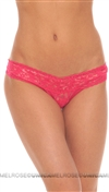Hanky Panky Pink Signature Lace Lowrider Thong