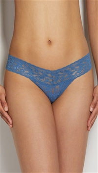 Hanky Panky Storm Cloud Blue 'Signature Lace' Low Rise Thong