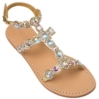 Mystique Gold 'Maui' Flat Sandals
