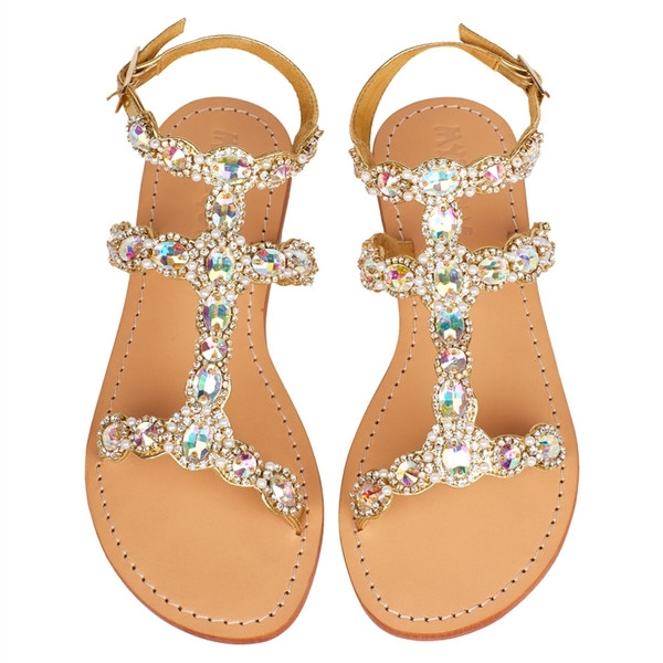Mystique Gold 'Maui' Flat Sandals