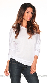 Scanalicious White Slouch Top