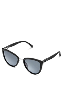 Quay 'My Girl' Black Frame/Smoke Lens Sunglasses
