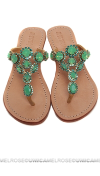 Mystique Gold & Opal Heel Sandals
