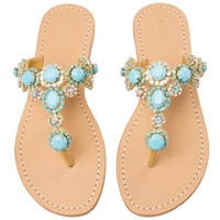 Mystique Gold & Turquoise 'Instanbul' WEDGE Sandals