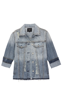 Rails Medium Vintage Denim 'Knox' Button Up Jean Jacket