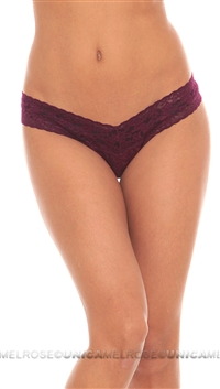 Hanky Panky Burgundy Low Rise Thong