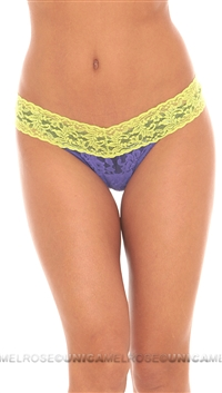 Hanky Panky Neon Yellow & Purple Low Rise Thong
