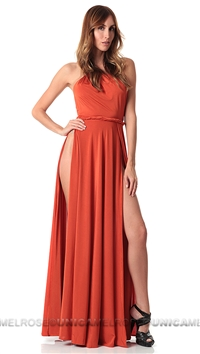 Abyss by Abby Orange Vamp Maxi Dress