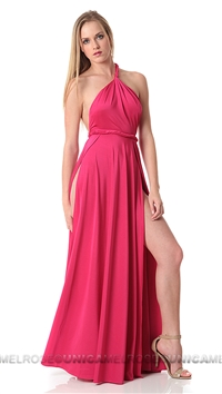 Abyss by Abby Hot Pink Vamp Maxi Dress