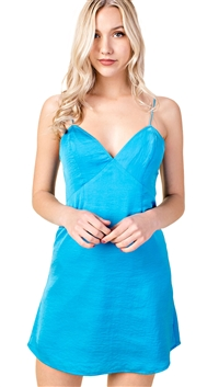 Honey Punch Satin Camisole Dress