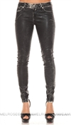 Denim of Virtue Black and White Amsterdam Skinny Pants