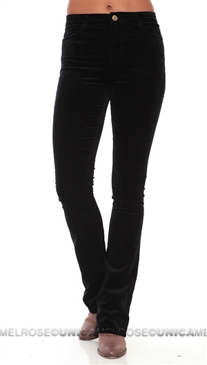 J Brand Black Remy High Waisted Velvet Pants