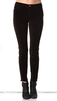 J Brand Brown Velvet Mid Rise Pants