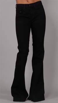 J Brand Black with Flared Leg Denim Jeans