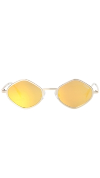Quay Gold Frame/Gold Lens 'Purple Honey' Sunglasses