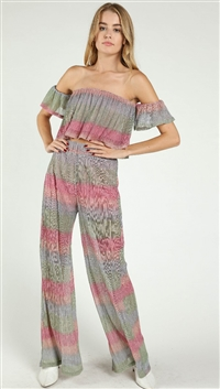 Wild Honey Striped Shimmer Pants