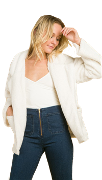 Over-sized White Coat by Wild Honey