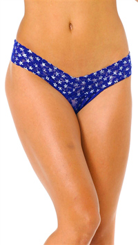 Hanky Panky Blue Low Rise Thong