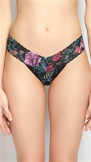 Hanky Panky 'Moody Blooms' Low Rise Thong
