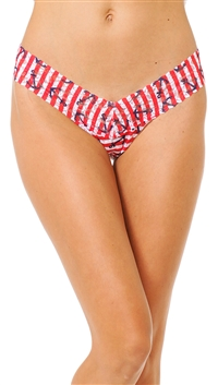 Hanky Panky Red & White Signature Lace Low Rise Thong