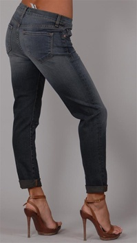 J Brand Aoki Grey-Blue Distressed Denim Jeans